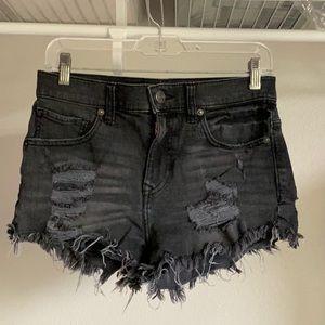 EUC Express shorts black size 6 high rise